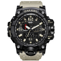 SMAEL Orologi sportivi da uomo, doppio display, analogico, digitale, LED elettronico, orologi da polso al quarzo, orologio da nuoto impermeabile