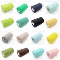 30color органзы рулон тюль Sheer ткани для Diy свадьба стул створки лук Бегун стол Swags Foral торт Кубок декор
