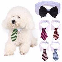 Hond verzorging kat gestreepte vlinderdas kraag huisdier verstelbare hals stropdas witte kraag hond stropdas partij bruiloft gravata cachorro