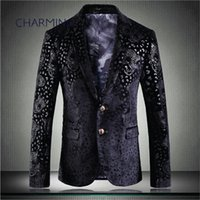 Mens fashion suit jacket, leopard- print jacquard fabric, gen...