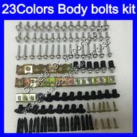 Pernos de carenado Kit de tornillo completo para Yamaha yzf600R 96 97 98 99 00 01 YZF-600R YZF 600R 02 03 04 05 06 07 Tuercas de cuerpo Tornillos Tuercas Nuez Kit 25 Colores