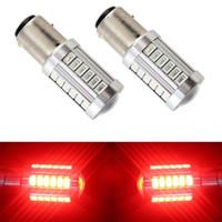 2pcs 1157 P21 / 5W BAY15D Super Bright 33 SMD 5630 5730 lumières LED freinage automatique feux antibrouillard 21 / jour 5w voiture ampoules d'arrêt de feux de circulation
