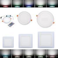 RGB LED دوونلايتس 6W 9W 18W 24W مزدوج اللون (RGB + أبيض) أضواء لوحة السقف أدى الأبيض بوبي أكريليك أدى إلى أسفل الأضواء Ac 85-265V