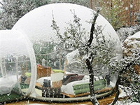 Frete Grátis Ao Ar Livre Túnel Do Quintal Tenda Dome Ar Transparente, única Casa Tenda Inflável Bolha Acampar Casa Com Sopradores