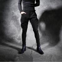 Nuovo personalità autunno inverno ispessita pantaloni casual da uomo slim nightclub parrucchiere stretch pantaloni Harlan pantaloni da uomo pantaloni