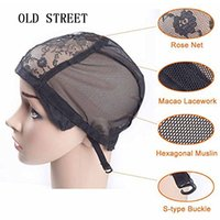 Lace Wig cap for making wigs with adjustable strap on the ba...