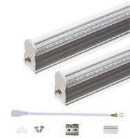 2ft 3ft T5 LED Tüp Işıkları 10 W 14 W Entegre LED Tüpler SMD 2835 LED Floresan Işık Tüpleri AC85-265V Şeffaf Kapak
