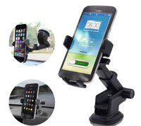 Support de téléphone de voiture Universel Sticky GPS Support Suction 360 Rotation Réglable 3.5-6 pouce Support pour iPhone Samsung Titulaires Titulaire ATP030