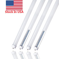 Stock en EE. UU. + 8 pies led 8 pies t8 FA8 Pin único luces led 45W LED Fluorescent Tube Lamps AC 85-265V 6000K blanco frío