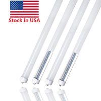 8피트이 8피트 T8 FA8 단일 핀을 주도 + 재고 미국은 조명 45W LED 형광등 램프 AC 85-265V 6000K 차가운 흰색을 주도
