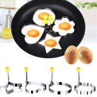 الفولاذ المقاوم للصدأ البيض المقلي العفن المشكل فطيرة خواتم أدوات الطبخ أدوات المطبخ الطبخ البيض العفن البيض المقلي العفن