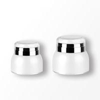 30 50G İnci Beyaz Kozmetik Havasız Krem Pompa Kavanoz vakum Ambalaj Şişeler