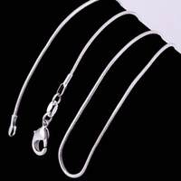 New Smooth Snake Chain Necklace 925 Silver Chain Lobster Cla...