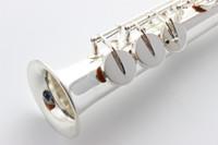 Profesyonel MARGEWATE Pirinç Gümüş Kaplama Soprano B (B) Saksafon Inci Düğmeler Ile Yüksek Kaliteli Müzik Aletleri Vaka