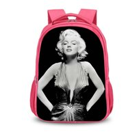8d983adc229c Wholesale bags marilyn online - Marilyn Monroe D Print Children Travel  School Backpacks Boy Girl Bags