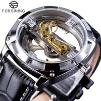 Forsining New Mens Transparent Skeleton Designer Watches Top...