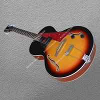 JAZZ electric guitar Double F hole hollow body Red guard Spe...