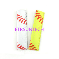 Baseball Neopreno Portapapel Congelador Icy Pole Ice Lolly Sleeve Protector Ice Block Holder Ice Cream Tools QW7914