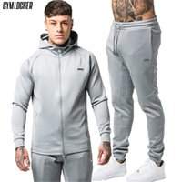 GYMLOCKER Gyms Men' s Sets 2018 Fashion Sportswear Track...