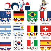 Hot 60mm 2018 FIFA World Cup Tattoo Sticker National Flag Ba...