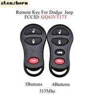 STENZHORN 3 / 4Button Télécommande Touche FOB pour Jeep Dodge Chrysler GQ43VT17T pour Dodge 2002 2003 2004 RAM 1500 2500 Clé de voiture