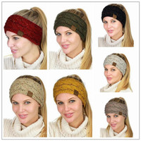 7 Colors CC Head Band Colorful Confetti Cable Knit Fuzzy Lin...