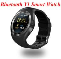 Tragbare Bluetooth Y1 Smart Uhr Relogio Android Smartwatch Telefon Anruf SIM TF Kamera geschenk solide zpg071
