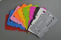 Cartão dobrável portátil plástico universal mini suporte do suporte do telefone móvel para Samsung iPhone tablet smartphone 1000pcs