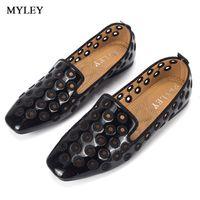 Kadınlar İçin MYLEY Siyah / Pembe Nefes Hollow Out Rugan Flats Kadınlar Tekne Ayakkabı Casual Düz Düşük Topuk Ayakkabı