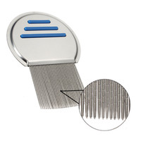Mayitr 1pc Silver Head Lice Comb Stainless Steel Fine Tooth ...