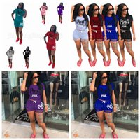 Pink Letter Printed Tracksuit Short Sleeve T- shirt Short Pan...