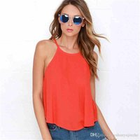 Sexy New O- Neck Sleeveless Women T- Shirt Casual Backless Spa...