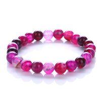 2018 Trendy Jewelry Transfer luck Purple Bracelet Chakra Yoga Beads Volcanic Stone 8mm Natural Stone Beads Bracelets For Women