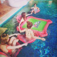 Playa de verano acuático inflable flotante juego de mesa de juego de agua portátil con silla piscina flotadores de piscina juguete venta caliente 160zs ww