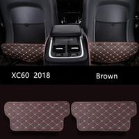 Volvo XC60 2018 için Deri Siyah Koltuk arkalığı Karşıtı Kick Pad Kahverengi Araç İç Karşıtı kirli paspas Koruma ped