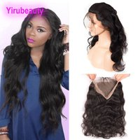 Peruvian Virgin Human Hair 360 Lace Frontal Body Wave Top Cl...