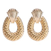 Big pineapple drop Earrings for women Luxury boho personalit...