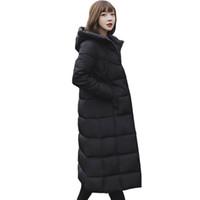 Mode frauen frauen verlängert abschnitt über knie Koreanische version 2018 winter neue verdickung unten 8812
