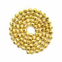 10メートル/ロットカラフルな銅ボールビーズチェーンバルクネックレスブレスレット女性1.5mmリンクキーチェーンDIYジュエリー製造F3630