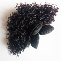 Avrupa Brezilyalı Bakire insan saçı 8-12inch Kinky Kıvırcık Toptan Vizon Sıcak satış Perulu Moğol Hint remy Saç ucuz Fabrika fiyat