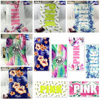 46 Styles 140*70cm Pink Letter Printed Beach Towels Fitness ...