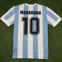 Top 1986 Argentinas Retro Jersey Jersey Clássico Maradona 10 Canggia Batistuta 9 Messi Camisa de Futbol Camisa de Futebol Camisa Tailândia Qualidade Tamanho S-XXL