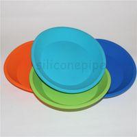 vendita all'ingrosso New Round e forma quadrata in silicone alimentare contenitore piatto profondo, vassoio piatto in silicone per cibo / frutta / cera