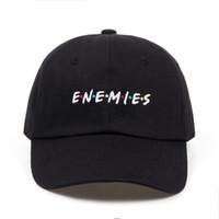 2018 новый Frenemies Enemies Бейсболка изогнутая шляпа Билла папа 100% хлопок мода snapback хип-хоп кепка шляпы оптом