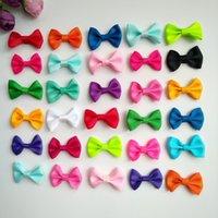 100pcs / lot 1.4inch colore puro clip bowknot archi dei capelli Piccolo Grosgrain nastro per ragazze adolescenti Toddlers bambini