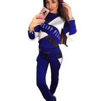 2 Two Piece Set Fall Female Casual Tracksuit Patchwork Lette...