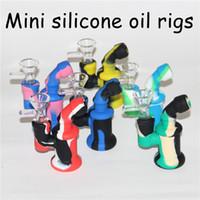 3.54 pulgadas de silicona burbujeadores burbujeadores narizudes 10 colores para la elección silicon agua espacio de agua bong bongs bongs tubo dabber herramientas
