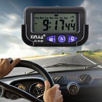 2018 자동 자동차 인테리어 점보 시계 대시 보드 디지털 시간 날짜 클리어 LCD 디스플레이 DHL 무료 배송
