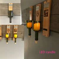 Exclusive Design Glass Wine Bottle Sconce LED Candle Holder ...