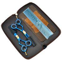 Forbici da taglio di drago viola 5.5 pollici cesoie assottigliamento impostato per utenti mancini barbieri parrucchiere rasoio salone strumenti di bellezza per capelli LZS0684